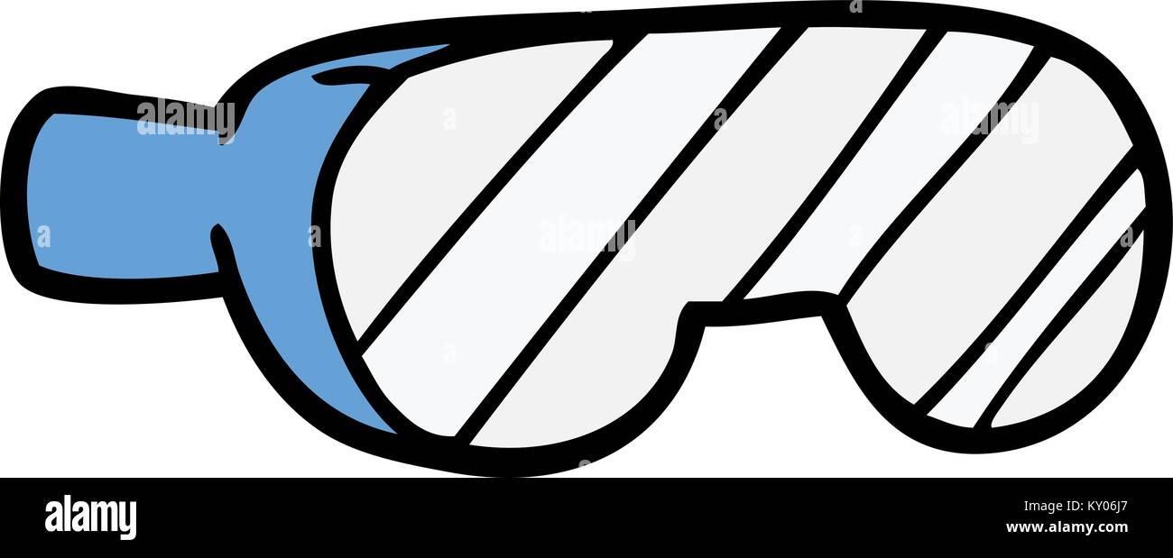 cartoon safety goggles stock vector art illustration vector image