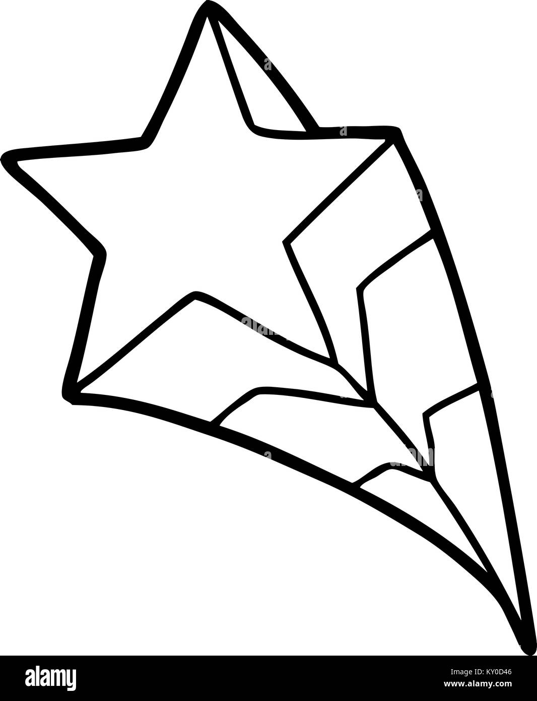 Shooting star drawing black and white stock photos images