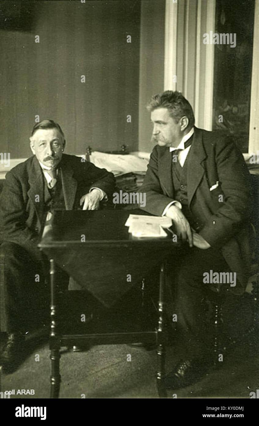 Hjalmar Branting Pieter Jelles Troelstra 1917 Stock