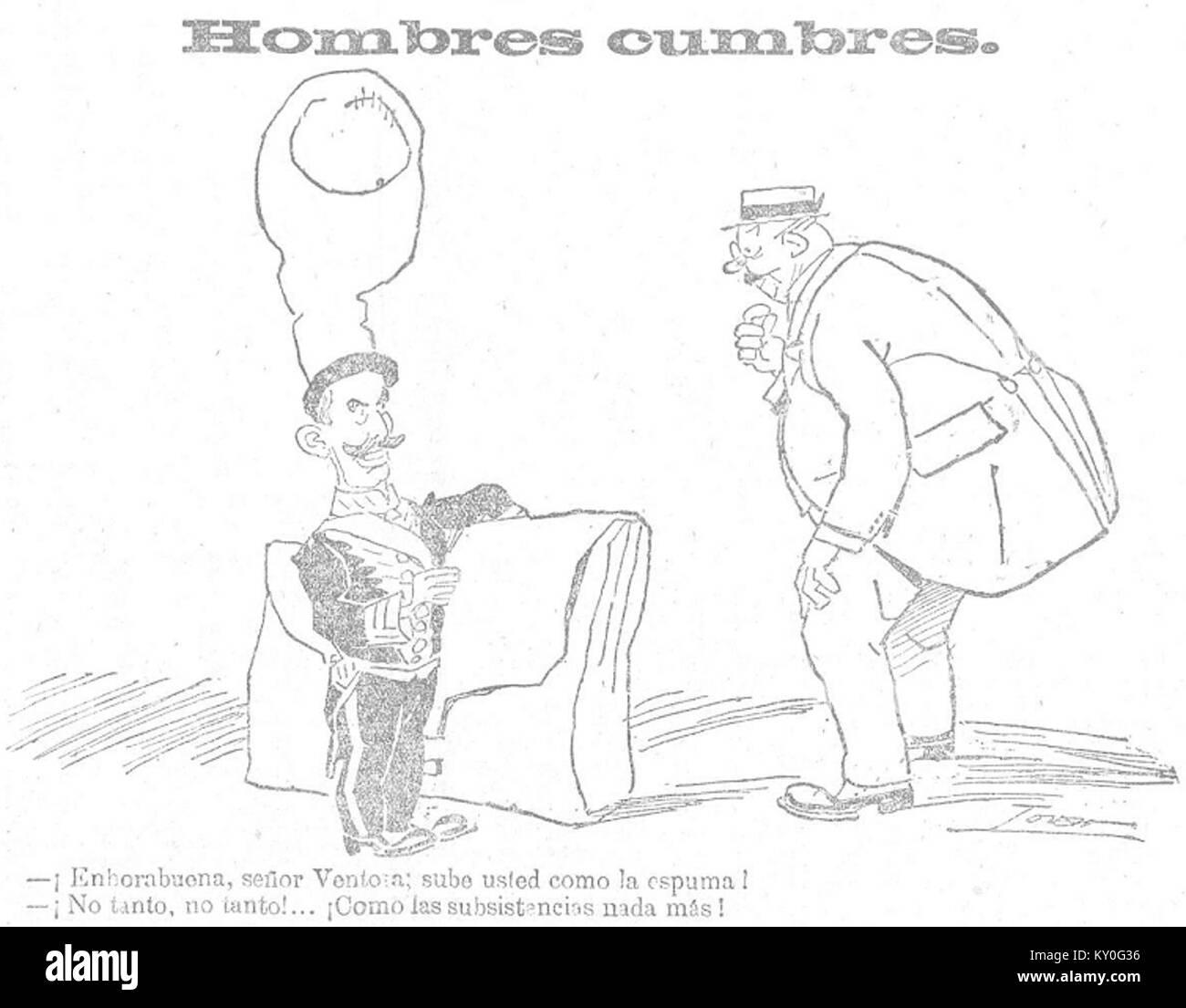 Hombres cumbres, de Tovar, Heraldo de Madrid, 6 de septiembre de 1918 - Stock Image