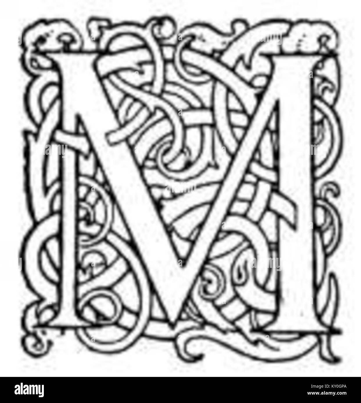 Fancy Letter M 4
