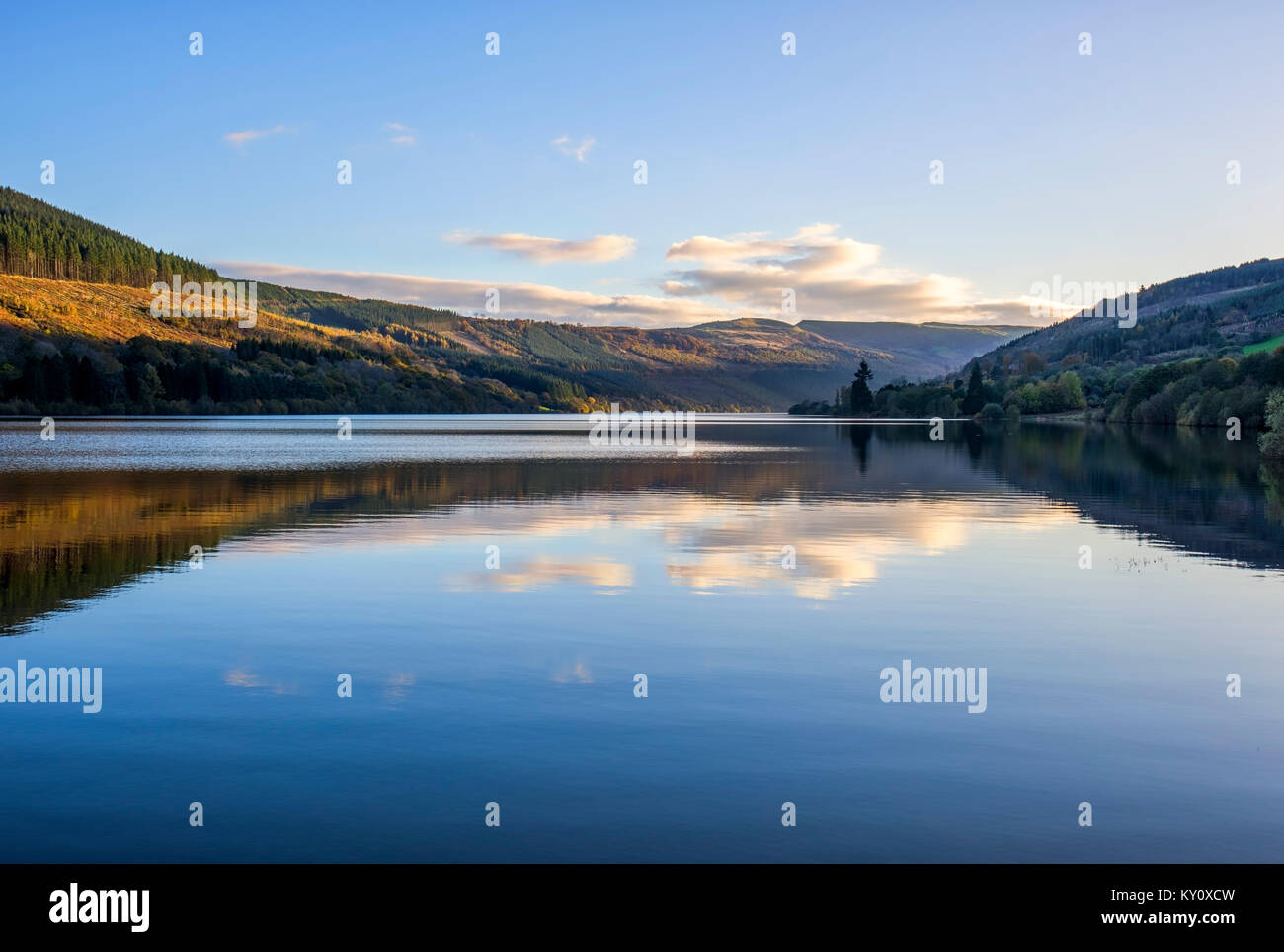 Talybont Reservoir in Wales - Stock Image