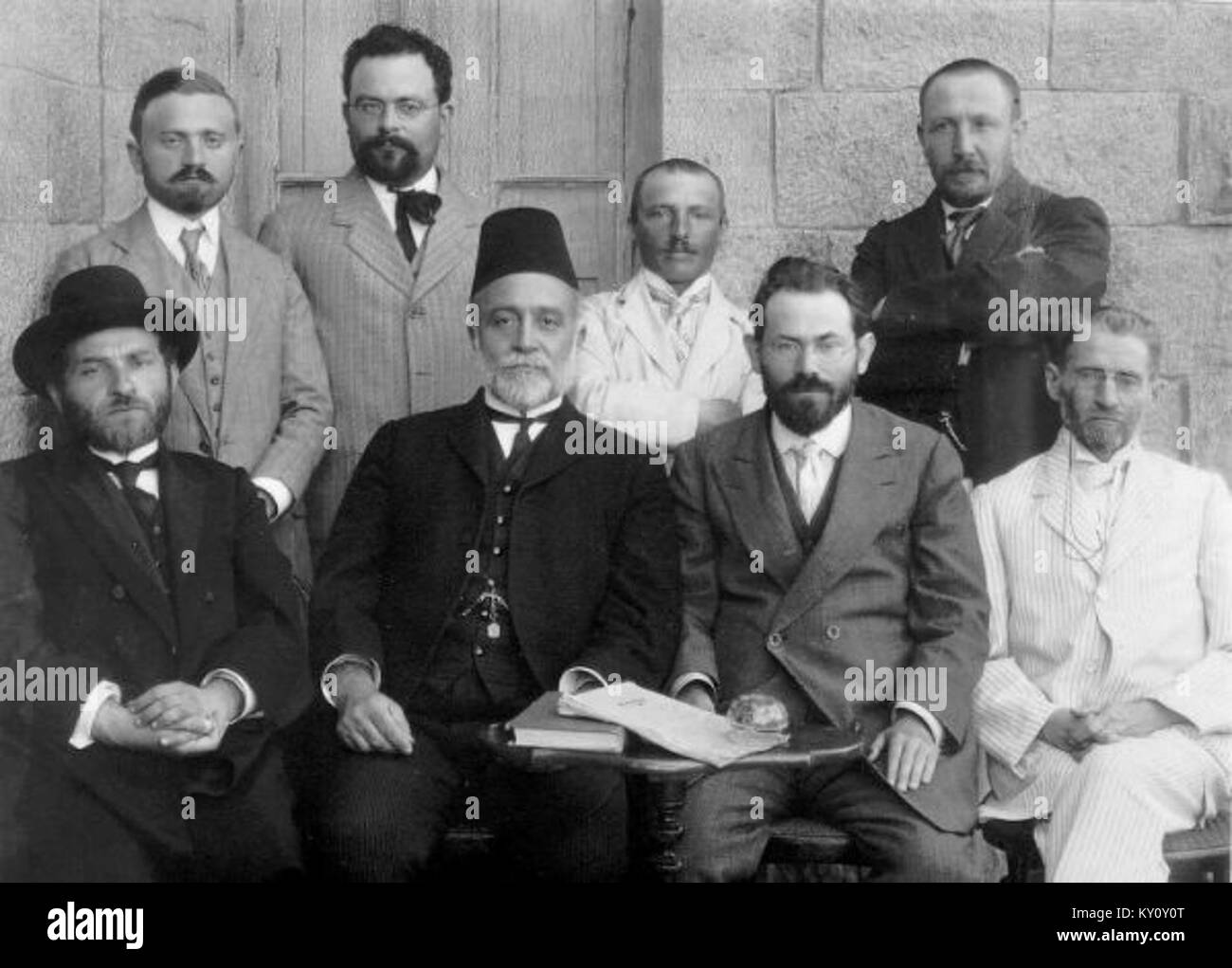 First Committee of the Hebrew Language, Jerusalem 1912 - Stock Image