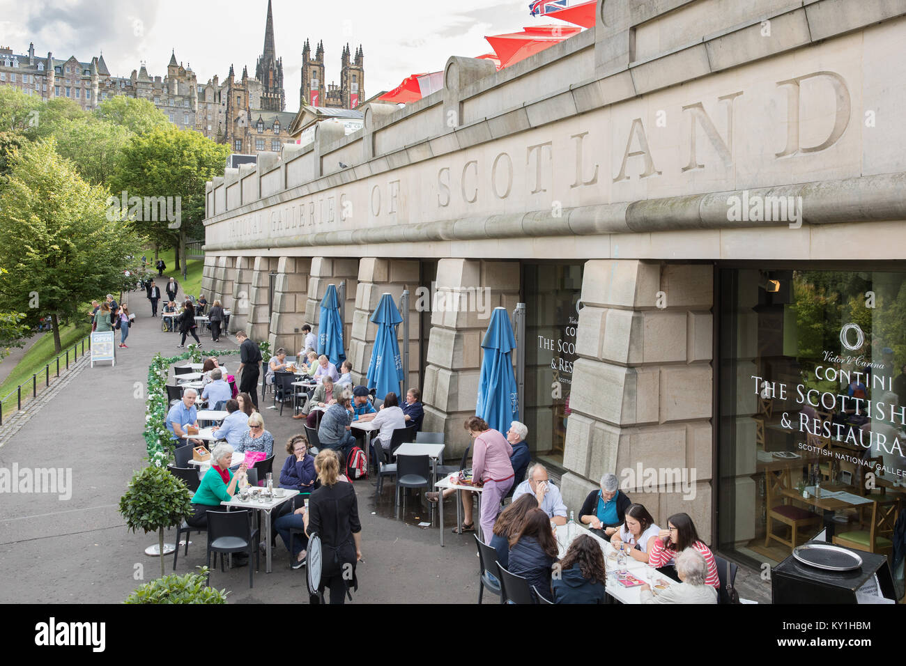 The National Galleries of Scotland cafe, Edinburgh, Scotland - Stock Image