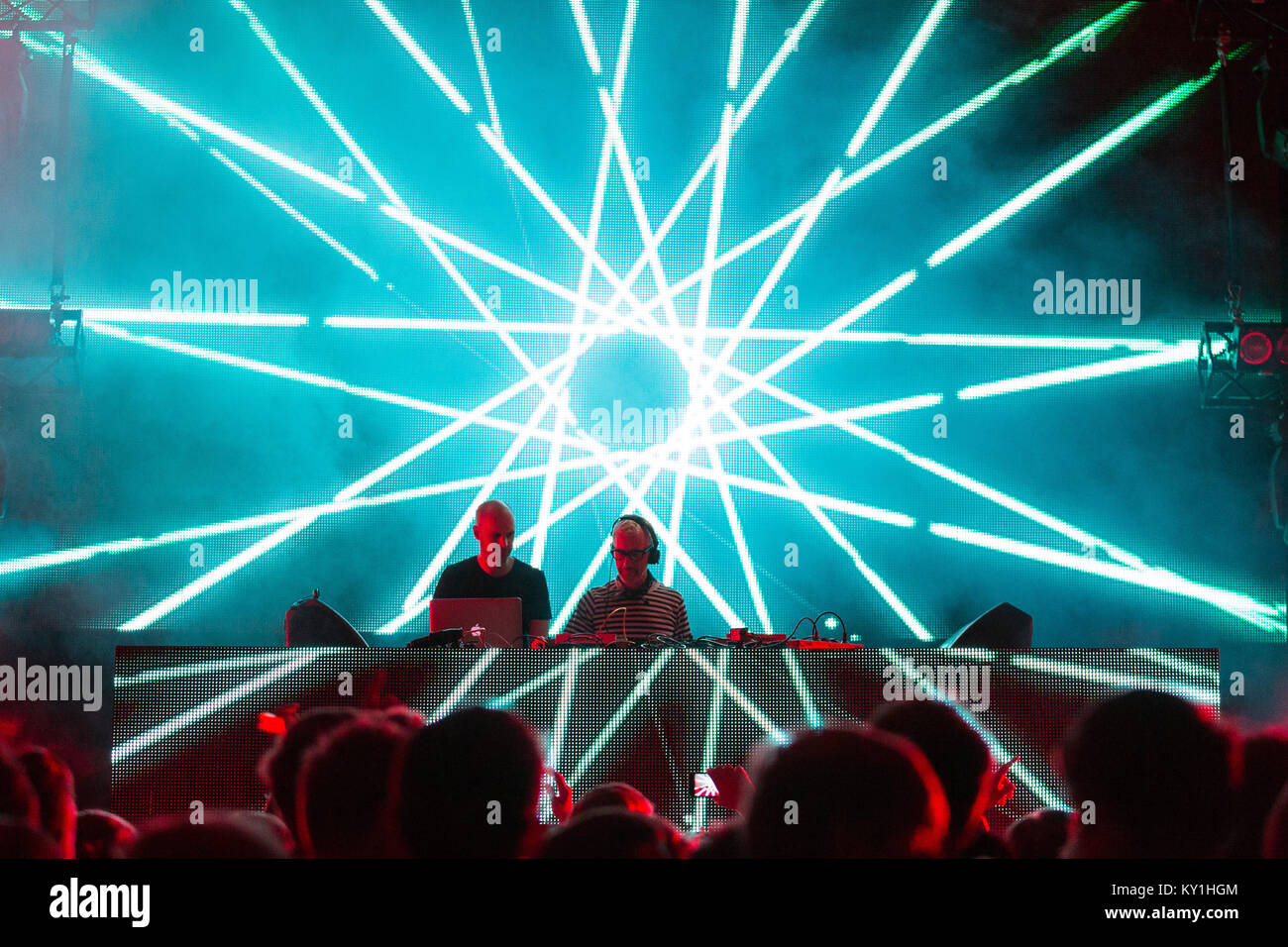 The British progressive trance group Above & Beyond performs