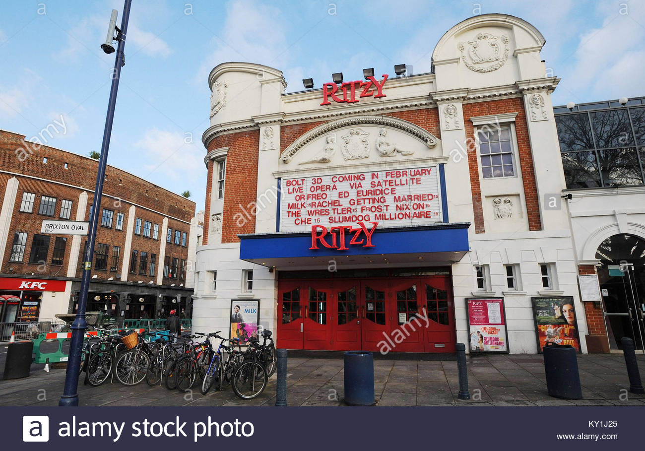 File photo dated 26/01/09 of the Ritzy cinema in Brixton, as cinema workers are to launch a fresh wave of strikes - Stock Image