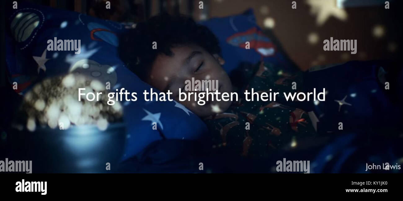 John Lewis Christmas Advert 2017.John Lewis Christmas Advert 2017 Stock Photos John Lewis