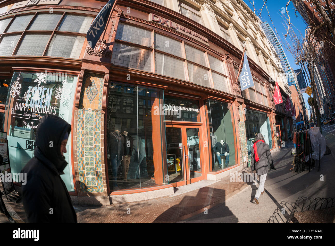 A Destination XL (DXL) store in the Chelsea neighborhood of New York on Thursday, December 28, 2017. The Destination - Stock Image
