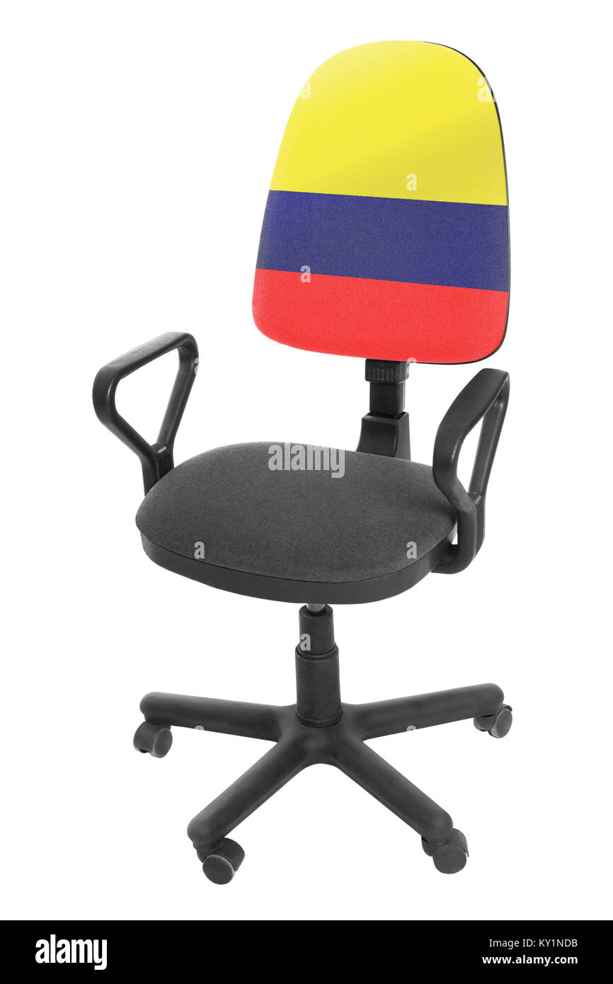 The Colombian flag - Stock Image