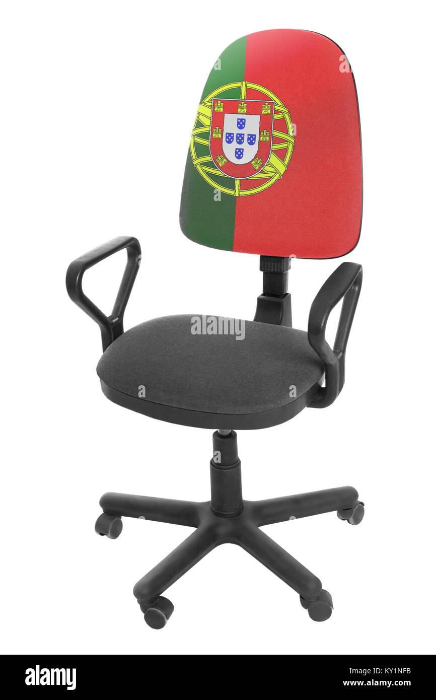 The Portuguese flag - Stock Image