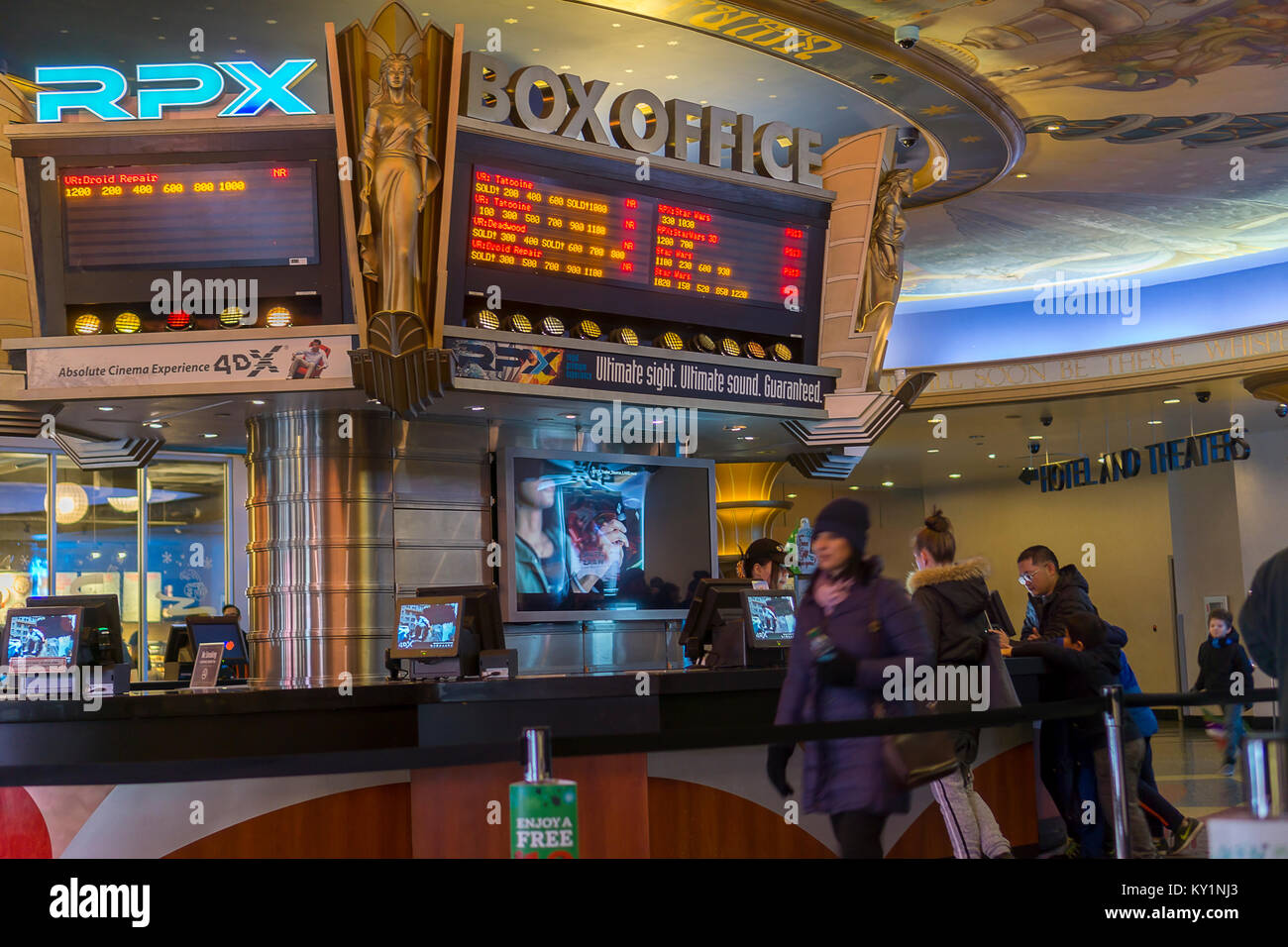 The Box Office In The Regal Cinemas Theater In Times Square