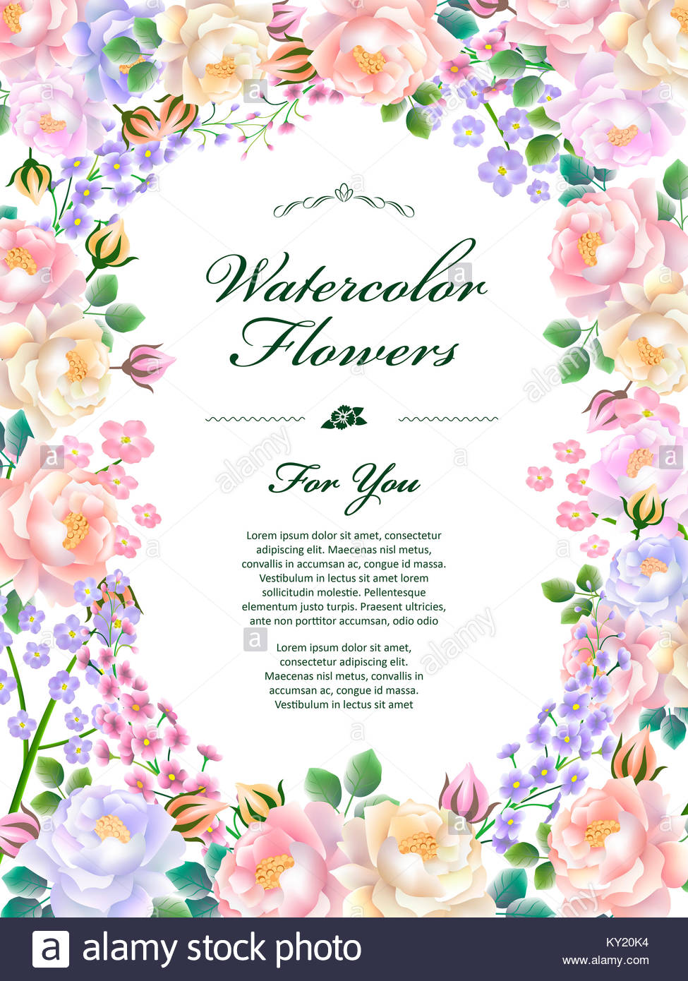 attractive floral poster template design stock photos attractive