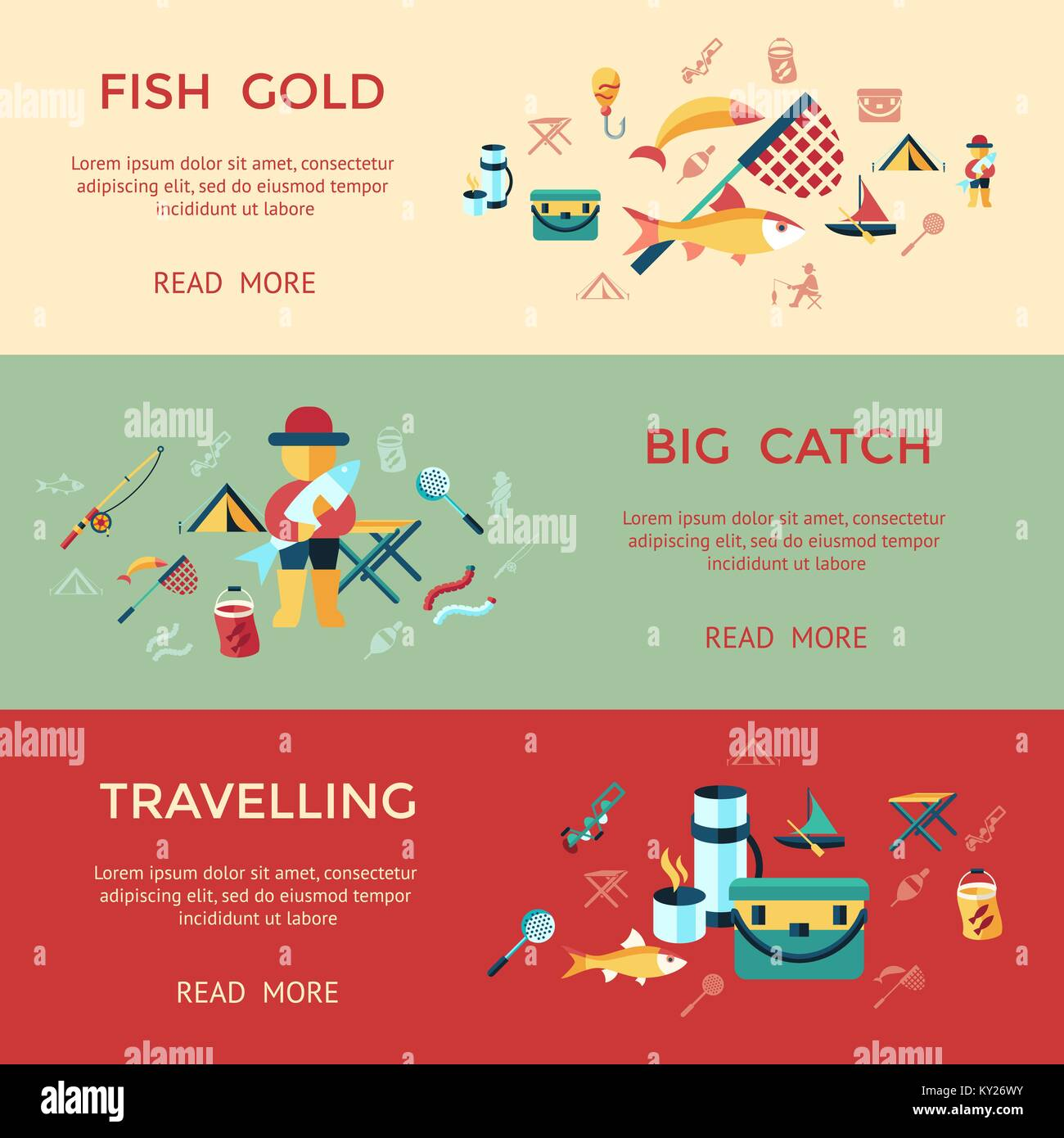 Digital vector fishing activity infographics set collection Stock ...