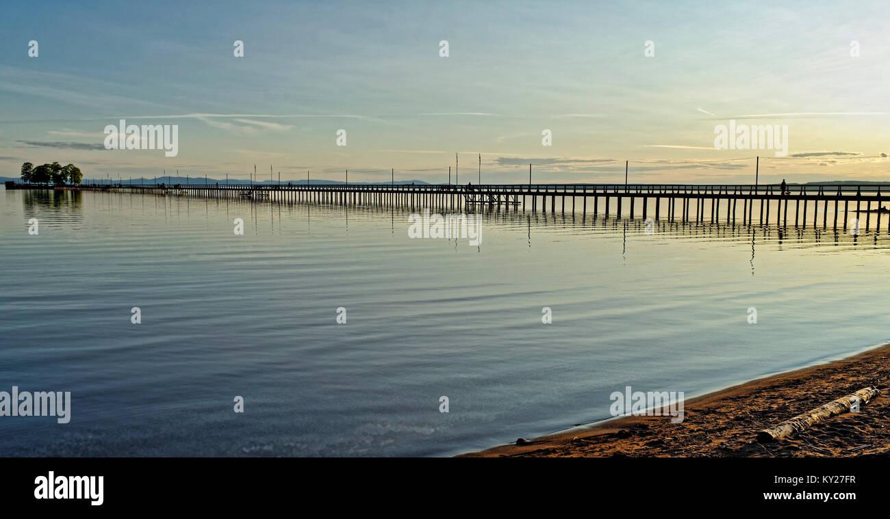 Midsummer evening at lake Siljan in Dalarna Sweden - Stock Image