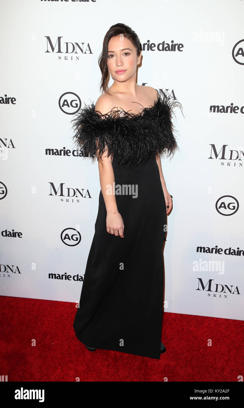 West Hollywood, Ca. 11th Jan, 2018. Gideon Adlon, at Marie Claire's Third Annual Image Makers Awards at Delilah - Stock Image