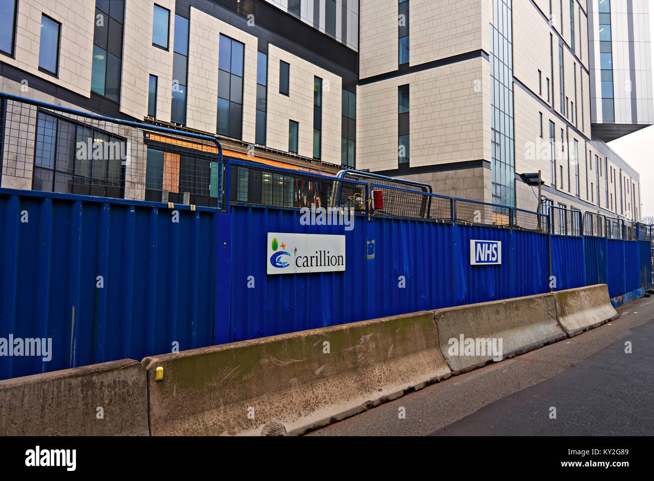 Liverpool, UK. 12th Jan, 2018. Troubled construction firm Carillion is building the £335m new Royal Liverpool Hospital, Stock Photo