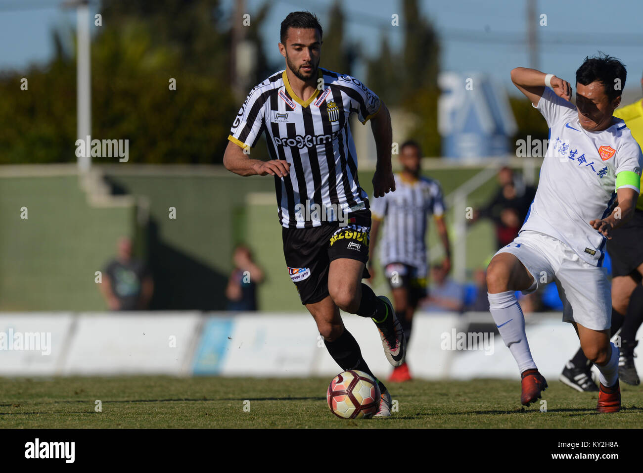 Julien Celestine during the friendly match between team Royal Charleroi SC vs.Yanbian Funde FC at Pinatar Arena, - Stock Image