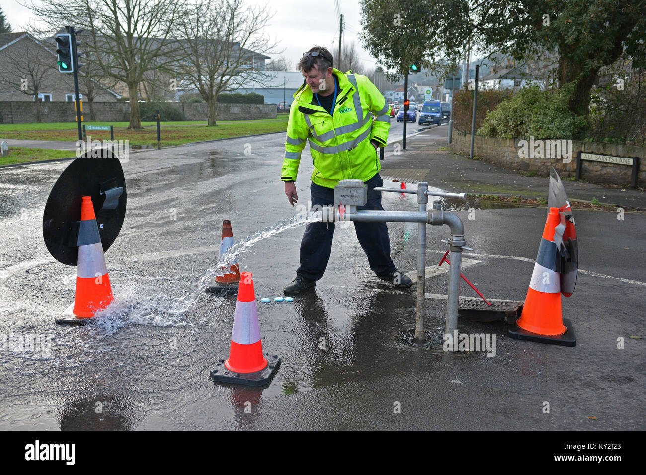 Clevedon, UK. 12th January, 2018.Serious parasite found in Bristol water in Clevedon North Somerset. Affected Residents - Stock Image