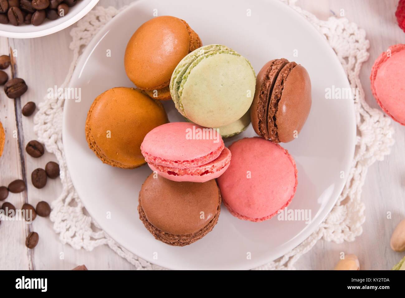Colorful macarons. - Stock Image