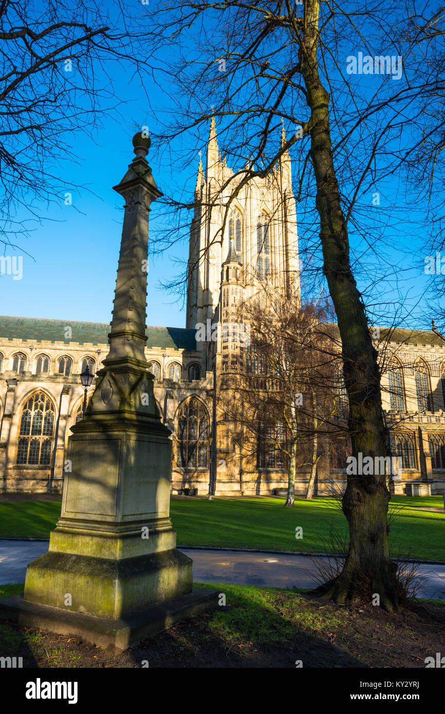 Martyrs Memorial at St Edmundsbury Cathedral for the Church of England's Diocese of St Edmundsbury and Ipswich. - Stock Image