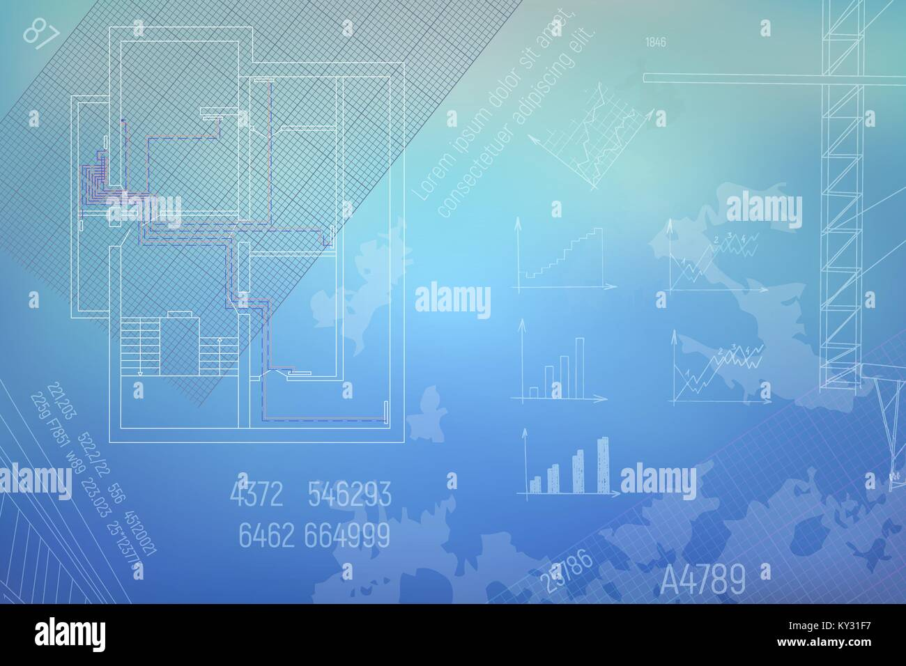 Blueprint background stock vector images alamy hvac engineering drawing stock vector malvernweather Choice Image