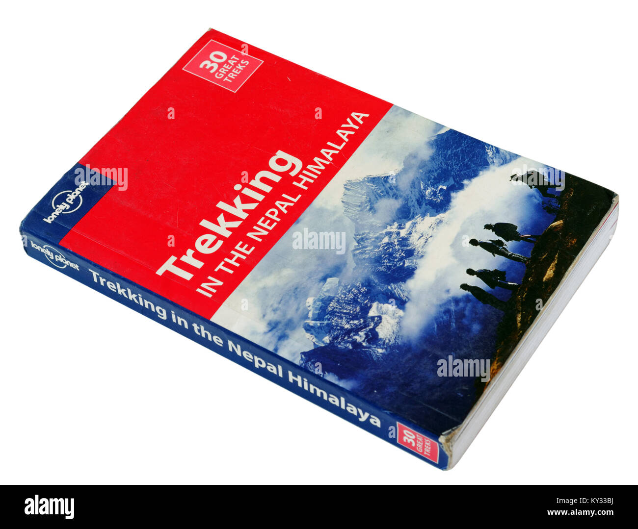 The Lonely Planet guide to Trekking in the Nepal Himalaya - Stock Image