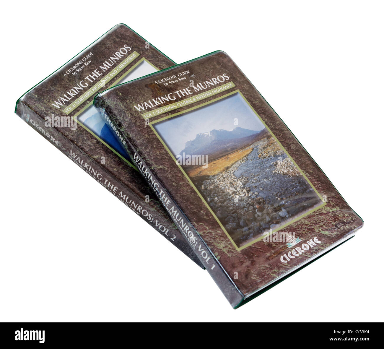 Guidebook to hillwalking the Munros in the Scottish Highlands - Stock Image