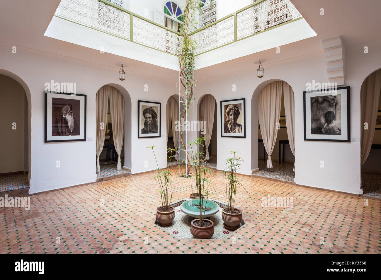 MARRAKECH, MOROCCO - FEBRUARY 22, 2016: The Photography Museum of Marrakesh is located in the Medina, the oldest Stock Photo