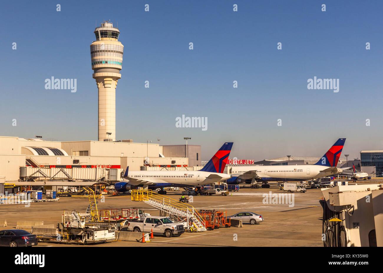 Hartsfield–Jackson Atlanta International Airport, USA. - Stock Image