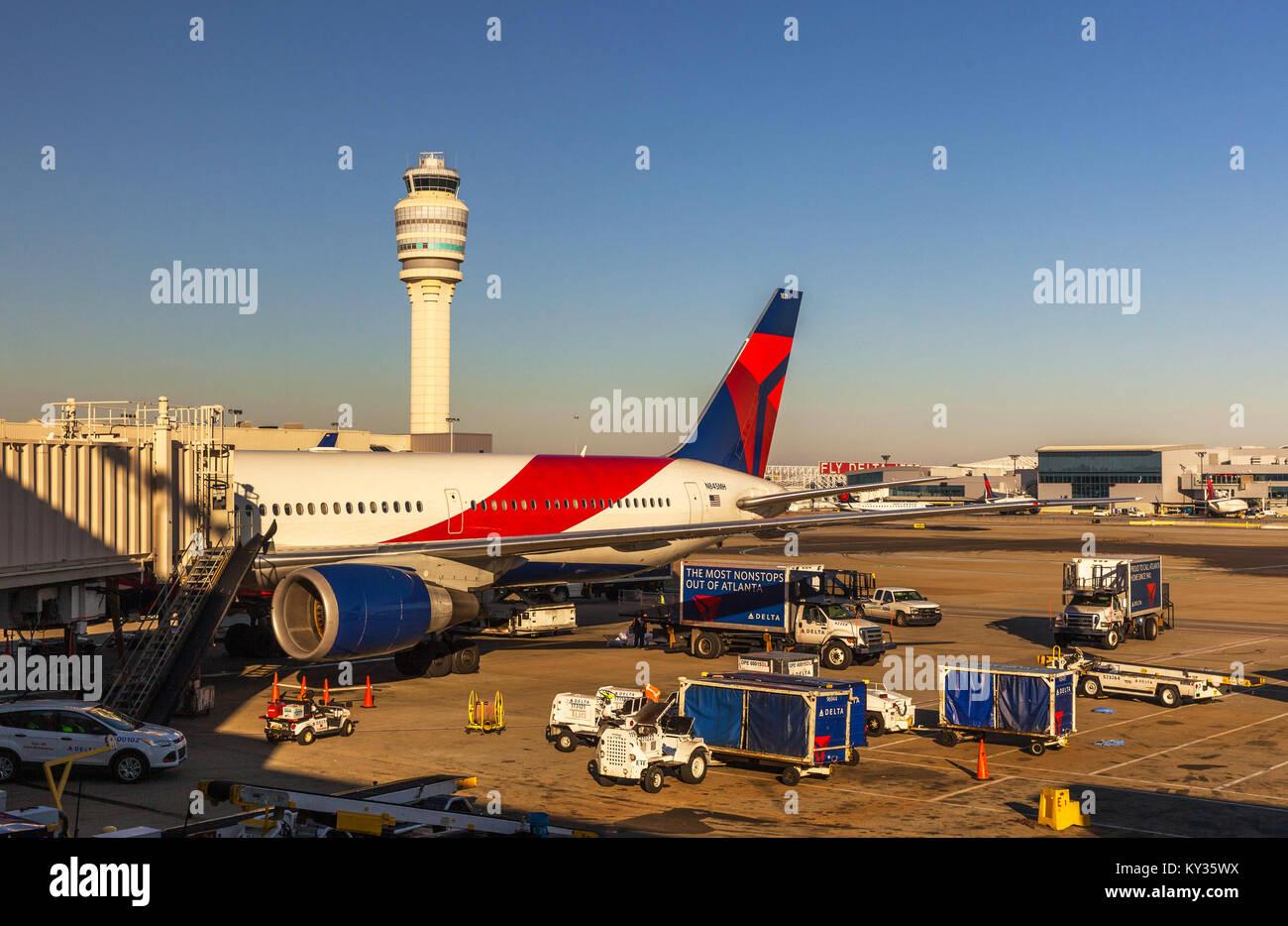 Hartsfield–Jackson Atlanta International Airport, Georgia, USA. - Stock Image