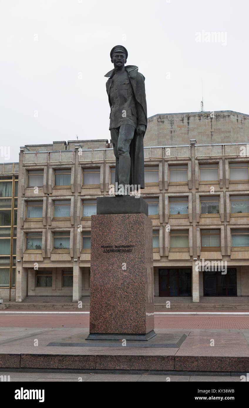 St. Petersburg, Russia - November 2, 2014: Monument to Felix Dzerzhinsky - Stock Image