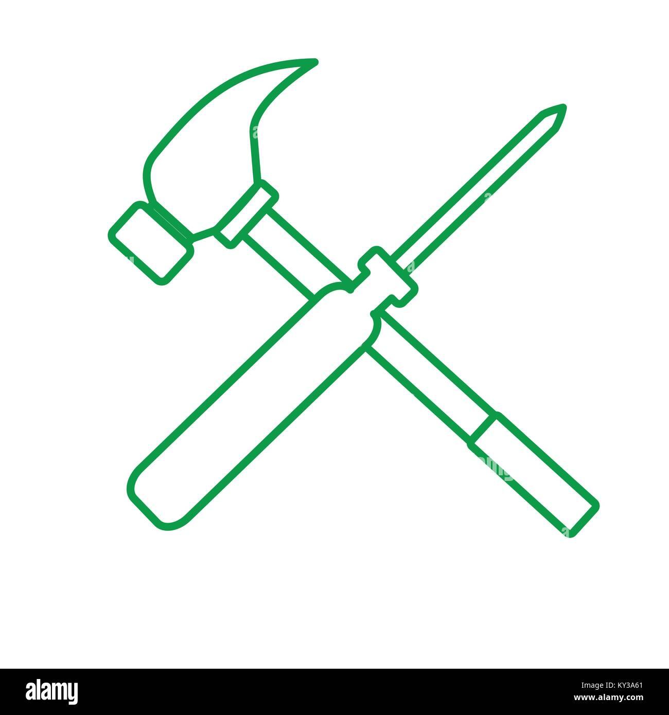 Vector Illustration Hammer: Hammer Vector Vectors Stock Photos & Hammer Vector Vectors