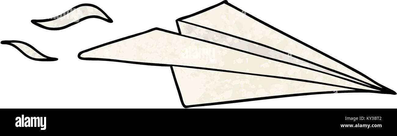 Cartoon Paper Airplane Stock Vector Art Illustration Vector
