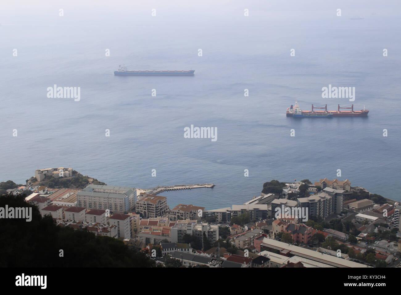 views in gibraltar - Stock Image
