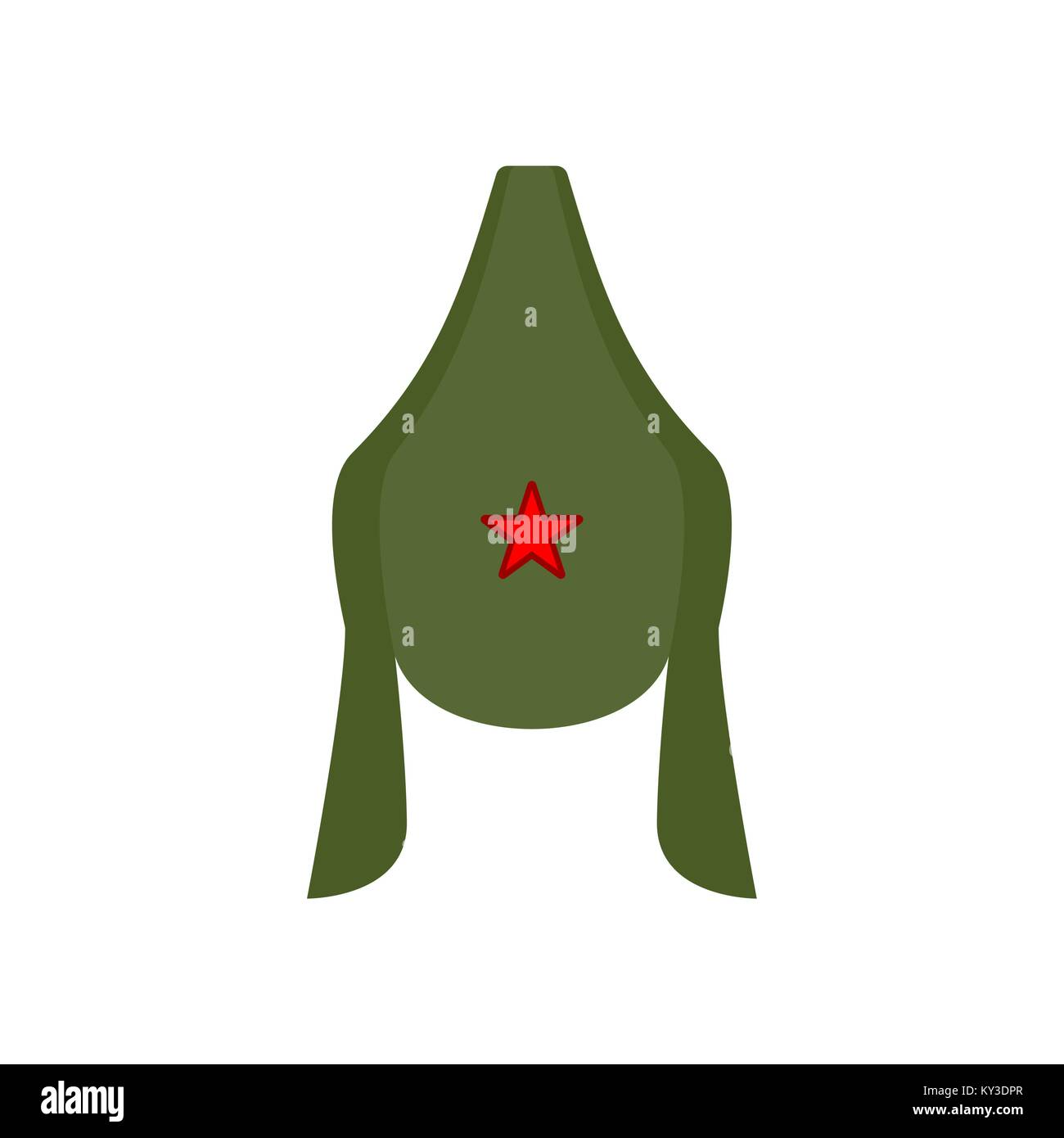 Budenovka retro cap Russian communist soldier isolated. Vintage hat Russian military. Vector illustration Stock Vector