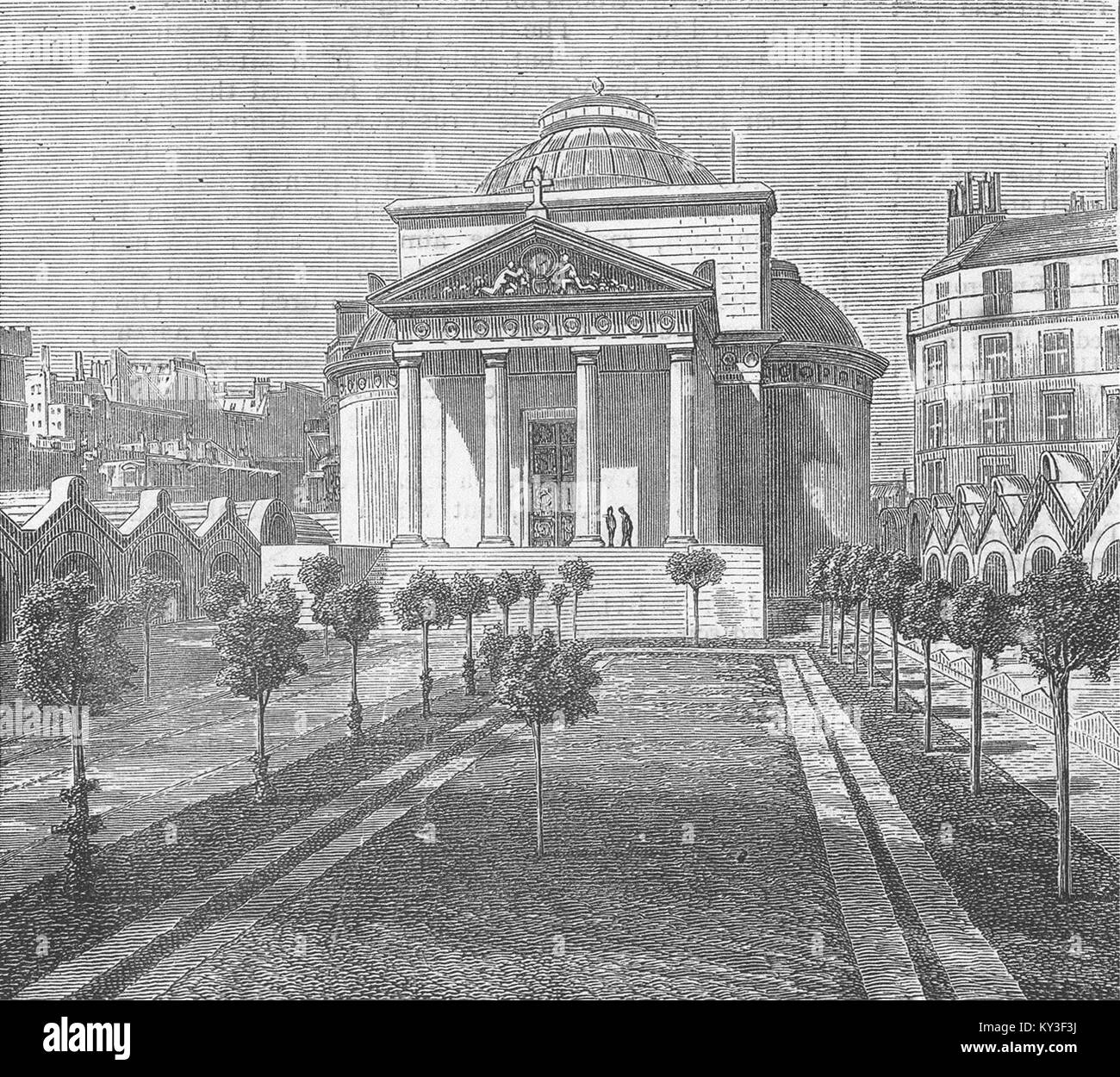 PARIS The Chapelle Expiatoire, destroyed by the communists 1871. The Graphic - Stock Image