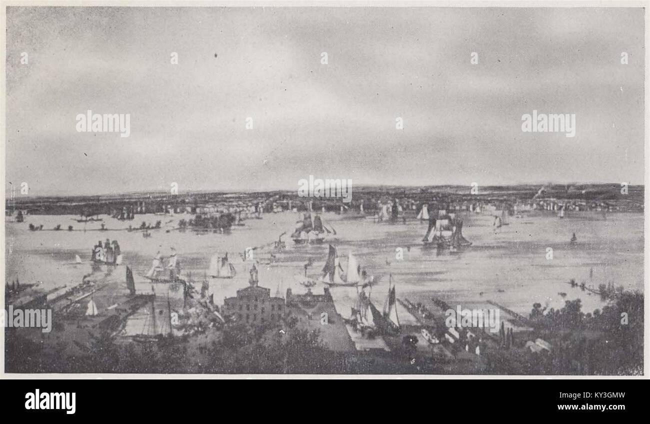 Philadelphia in 1827 - Stock Image