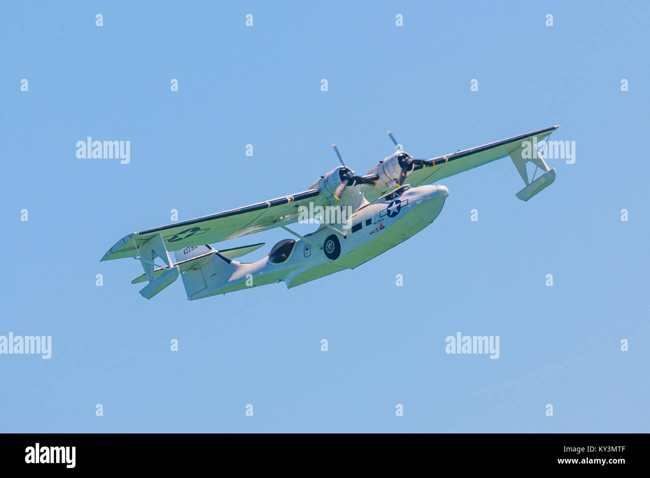 Catalina flying boat at the Eastbourne airshow 2017 - Stock Image