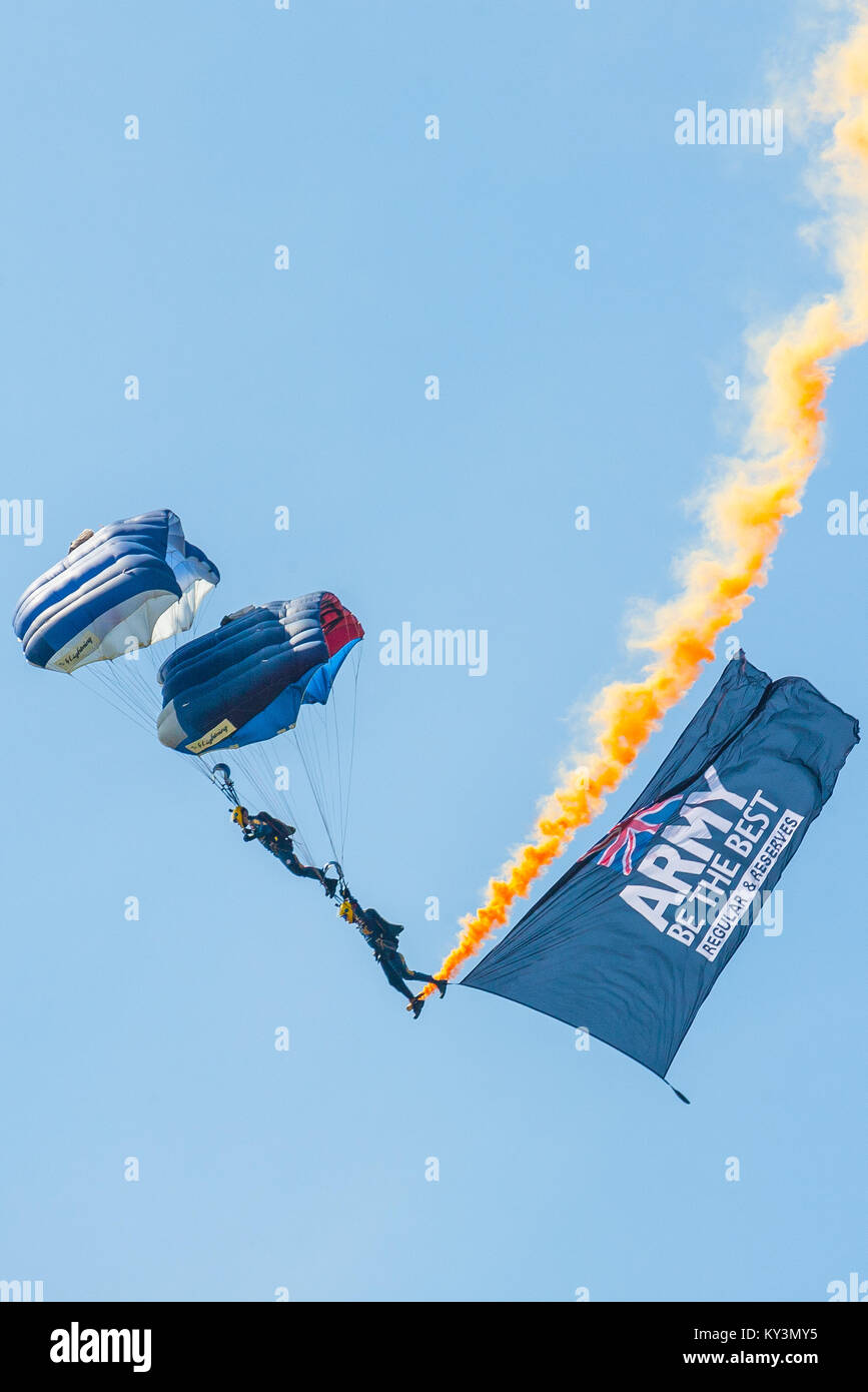 Tigers parachute Freefall Team at the Wings & Wheels display