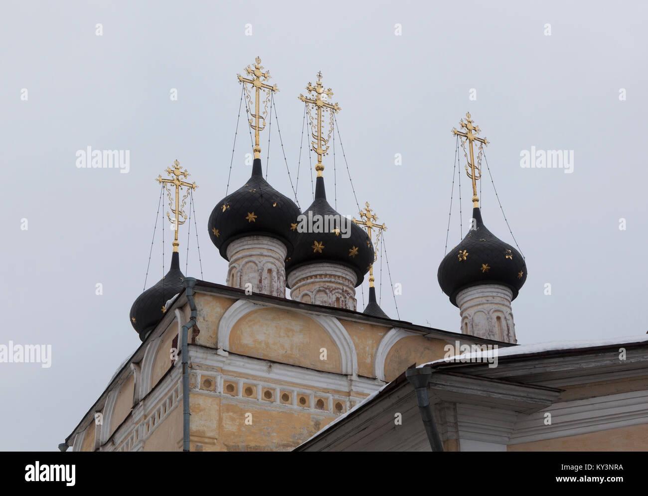 Dome of the Church of St Demetrios on Prilutsk Navolok Vologda, Russia - Stock Image