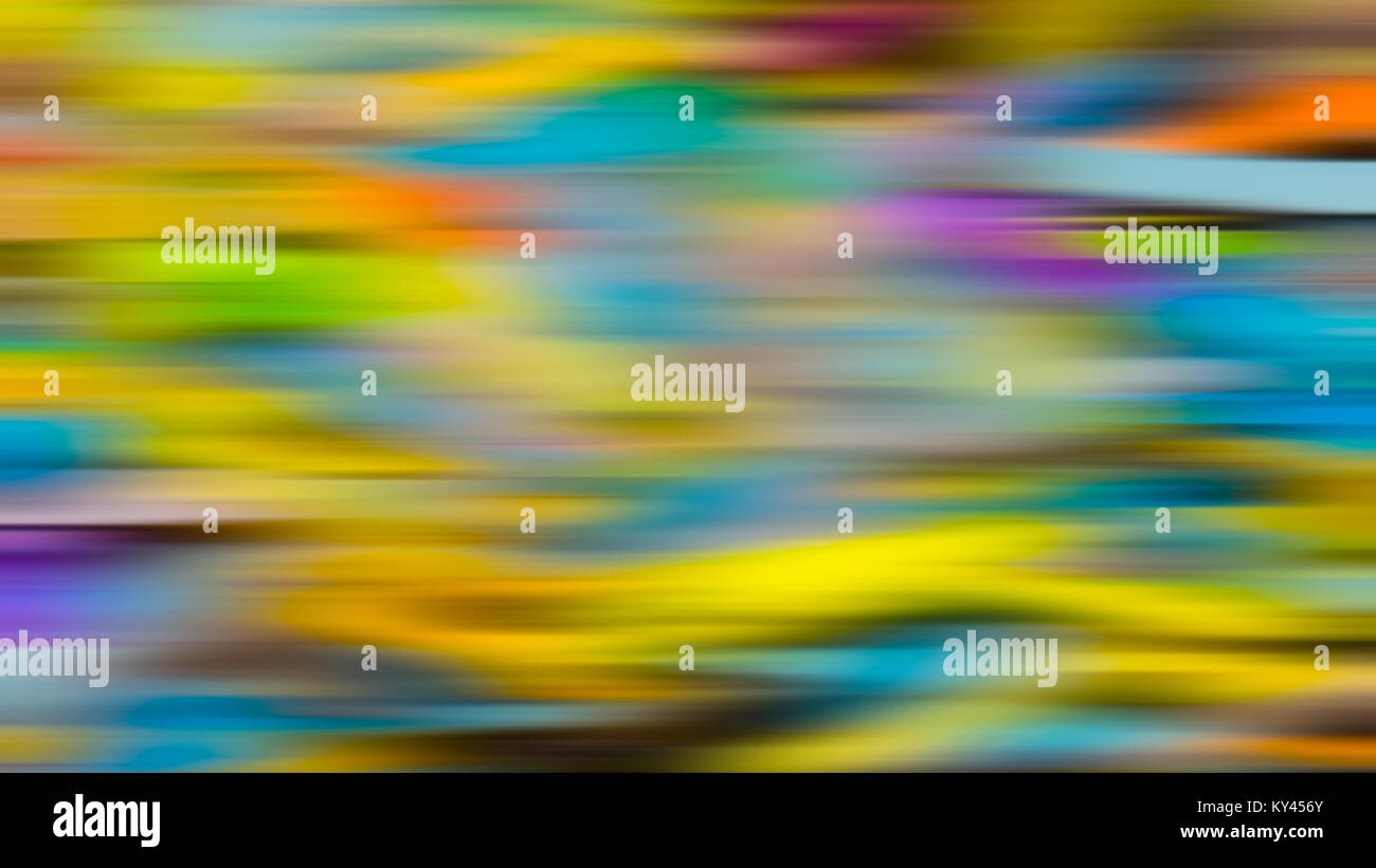 Colorful abstract background. Optimistic festive texture with iridescent blurred colors causes a 3D sense. - Stock Image