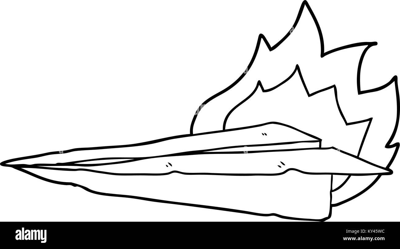 Cartoon Burning Paper Airplane Stock Vector Image Art Alamy