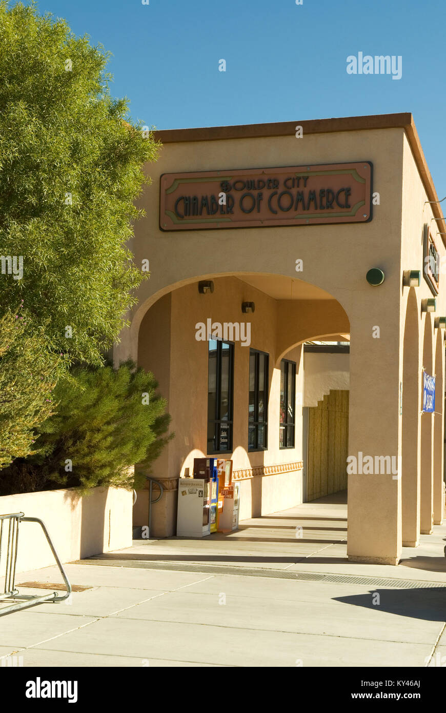 Boulder City Chamber of Commerce, Nevada, USA. - Stock Image