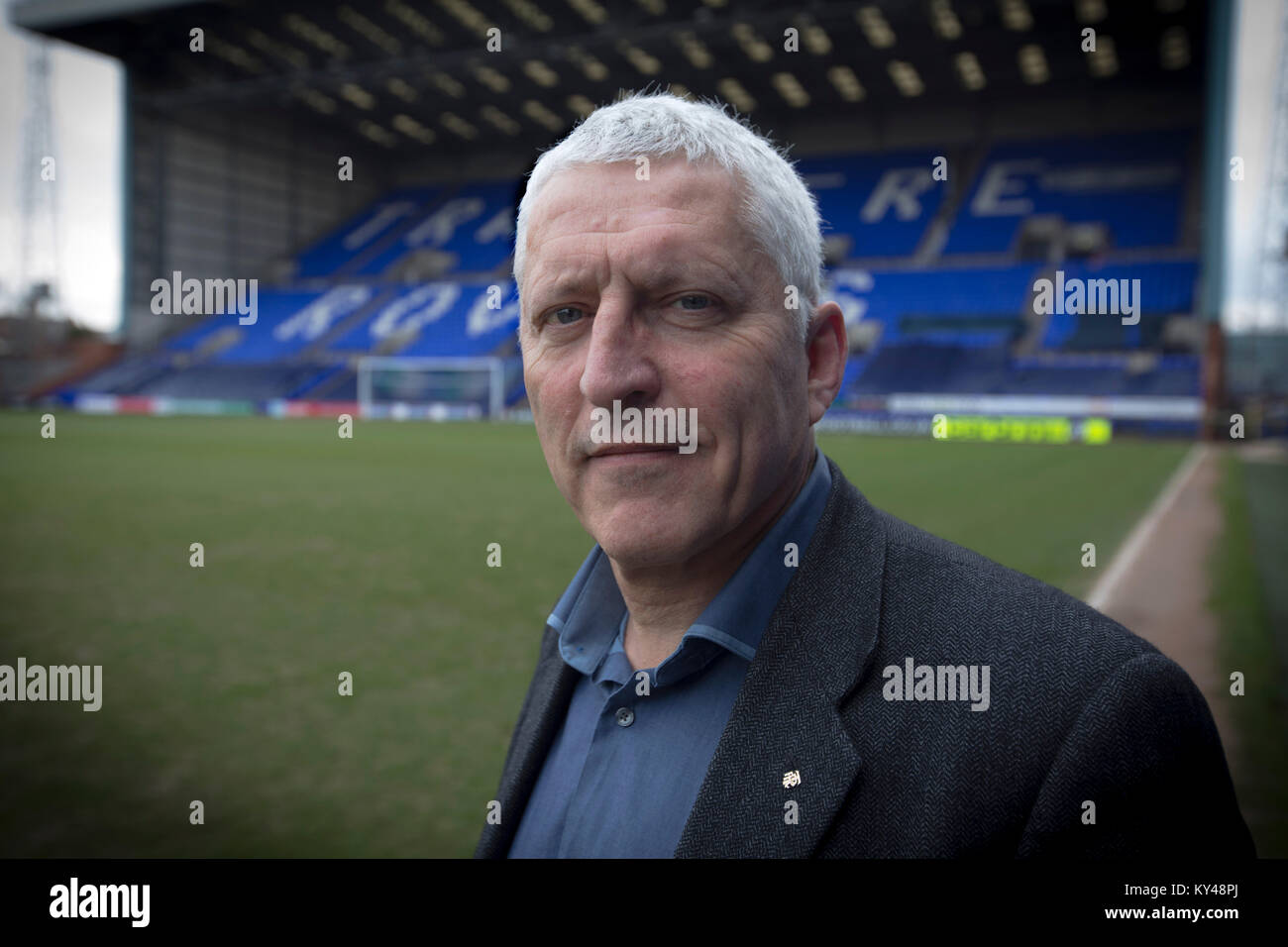 Mark Palios, executive chairman of Tranmere Riovers, pictured at the club's Prenton Park stadium. Palios was - Stock Image