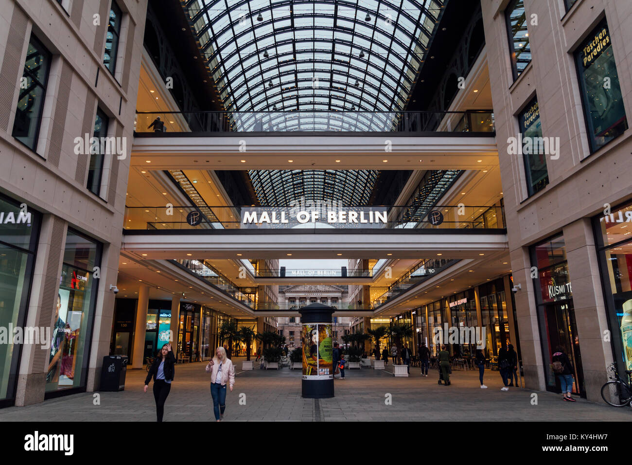 The Mall of Berlin shopping centre at Leipziger Platz