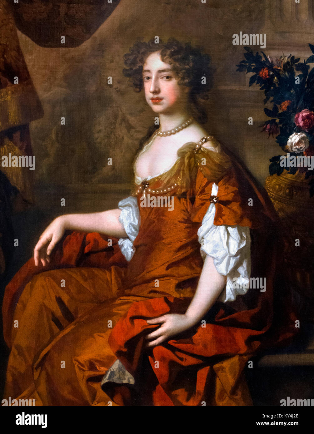 Mary II (1662-1694). Queen Mary II of England by Sir Peter Lely, oil on canvas, 1677 - Stock Image