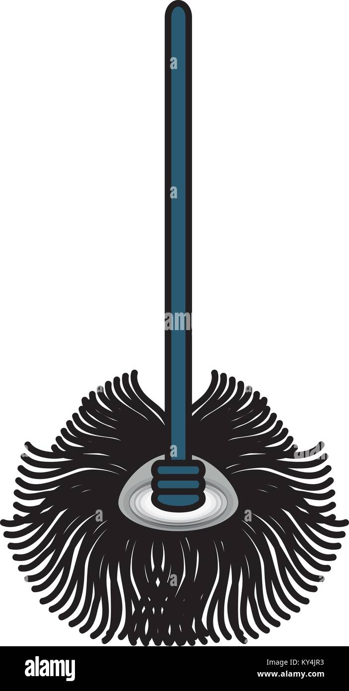 mop icon image - Stock Vector
