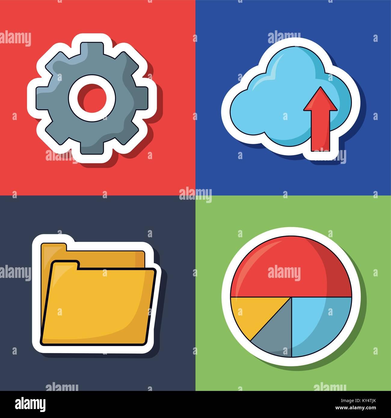 seo search engine optimisation and marketing icon  - Stock Image