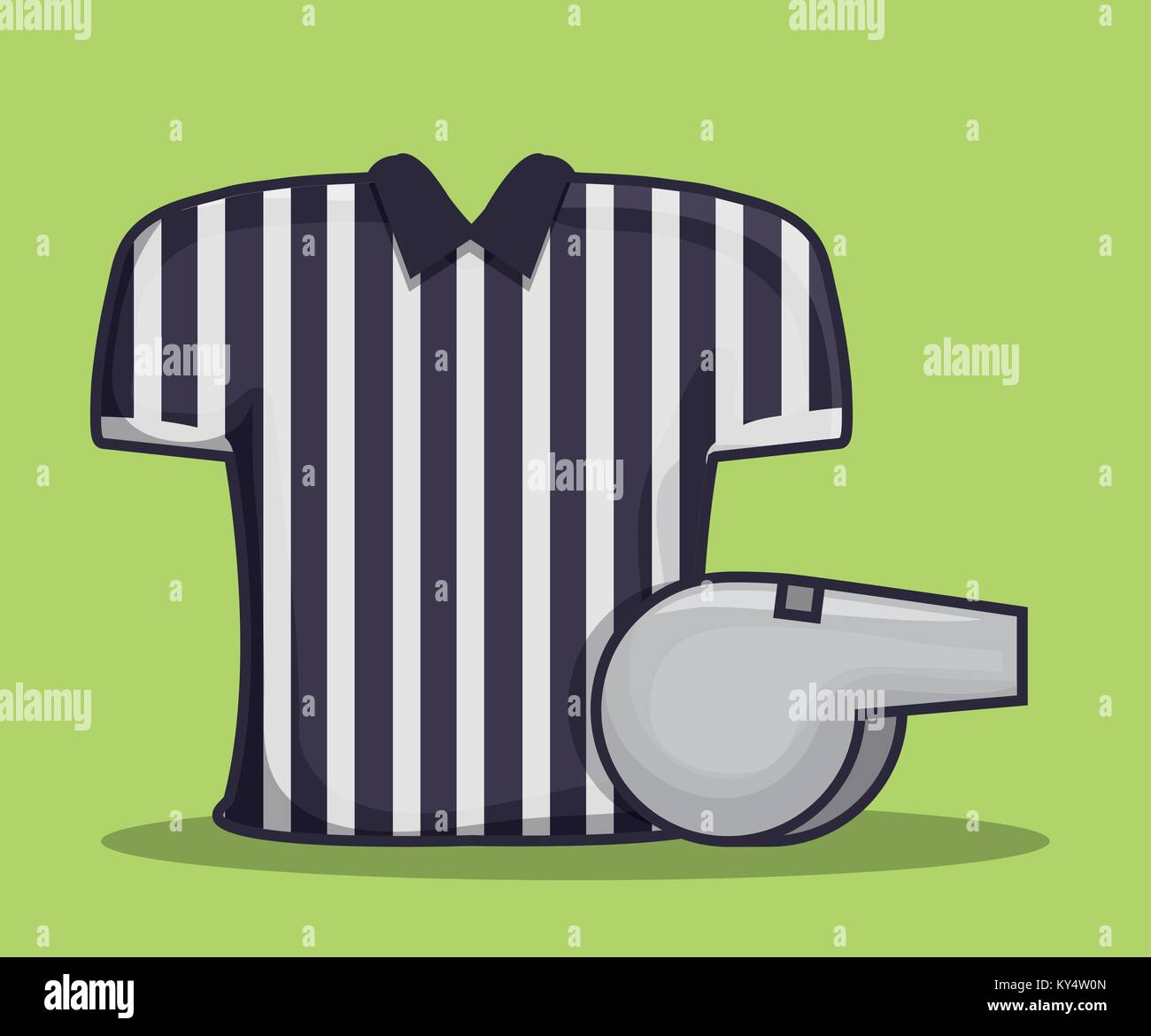 referee shirt uniform american football  - Stock Vector