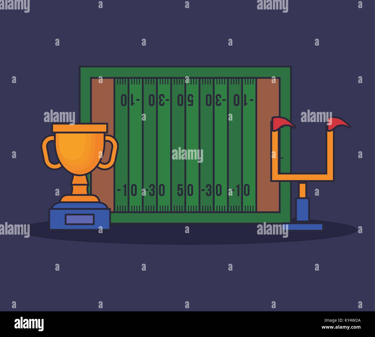 American Football Stadium Arena Vector Stock Photos Field Diagram Green Image